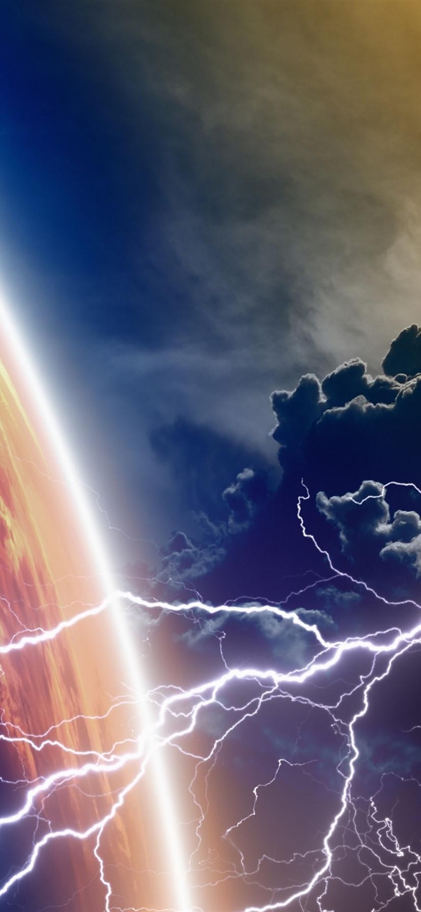 Wallpaper planet clouds lightning 3840x2160 uhd 4k - 4k girl wallpaper for iphone ...