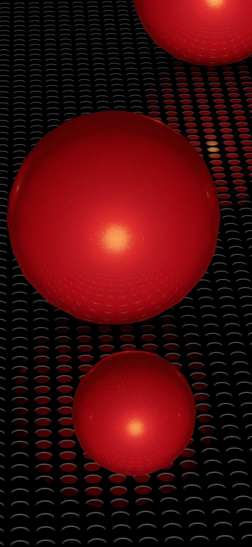 Red 3d Balls Surface 1080x1920 Iphone 8 7 6 6s Plus