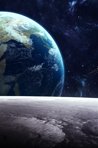 iPhone Wallpaper Satellite, planet, universe