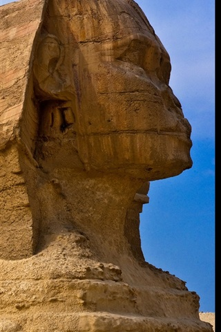 iPhone Wallpaper Sphinx sculpture, Egypt