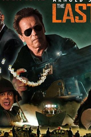 iPhone Papéis de Parede O último carrinho, Arnold Schwarzenegger