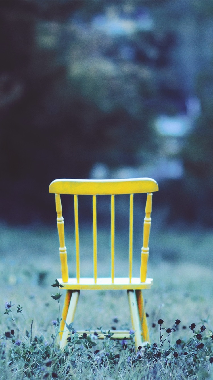Superb Yellow Chair Grass 750X1334 Iphone 8 7 6 6S Wallpaper Inzonedesignstudio Interior Chair Design Inzonedesignstudiocom