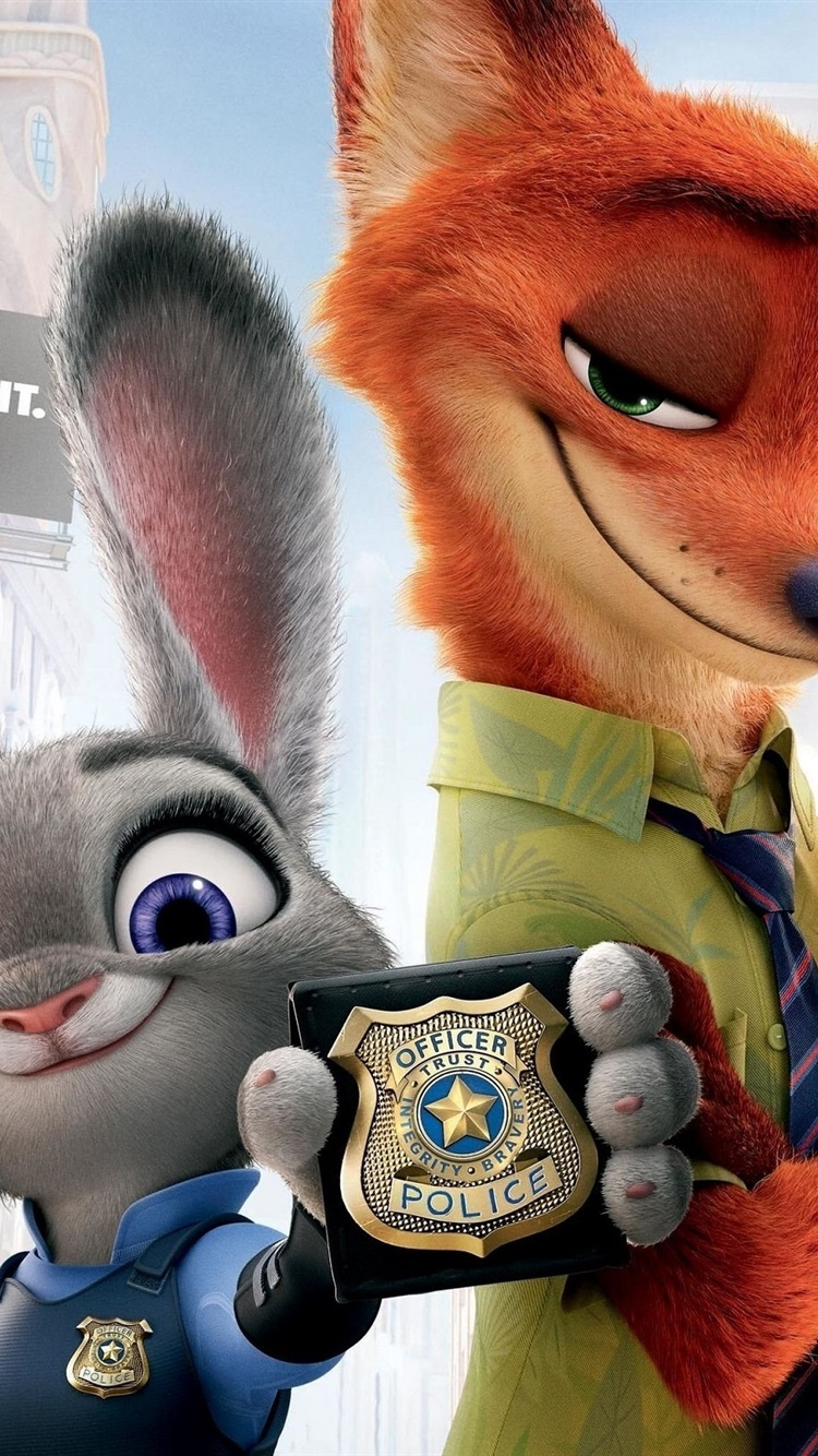 Zootopia Rabbit And Fox 750x1334 Iphone 8 7 6 6s Wallpaper Background Picture Image