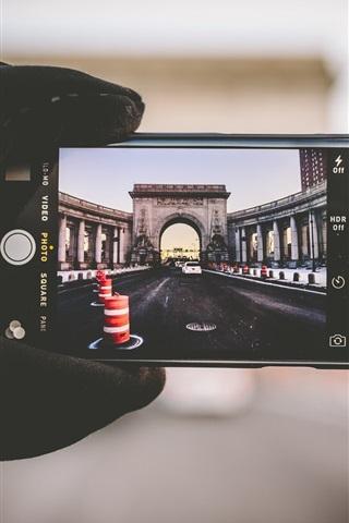 iPhone Papéis de Parede iPhone, fotografia, ponte, Nova Iorque