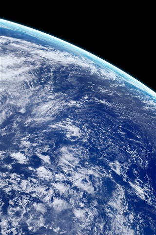 iPhone Wallpaper Beautiful Earth, blue planet, space