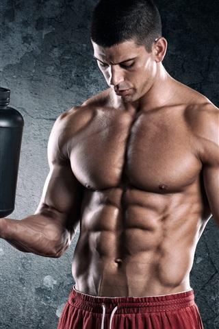 iPhone Wallpaper Bodybuilder, man, muscles, power