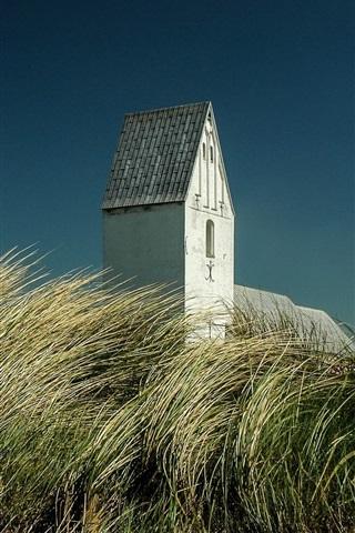 iPhone Wallpaper Denmark, grass, building, sky