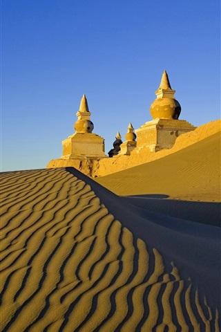 iPhone Wallpaper Desert, castle, sand