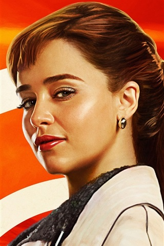 Emilia Clarke Solo A Star Wars Story 640x960 Iphone 4 4s Wallpaper Background Picture Image
