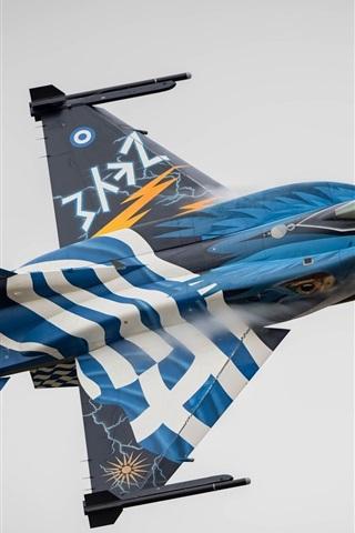 iPhone Wallpaper F-16 fighter flight