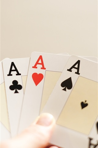 iPhone Wallpaper Playing cards, A