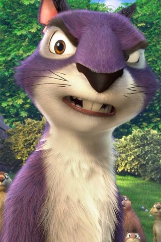 iPhone Wallpaper The Nut Job 2, cartoon movie