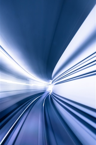 iPhone Wallpaper Tunnel, speed, light