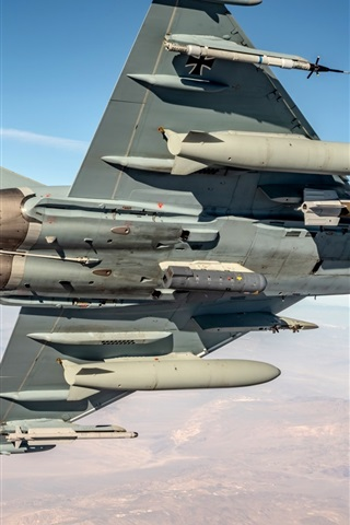 iPhone Wallpaper Typhoon multi-role fighter, sky, flight
