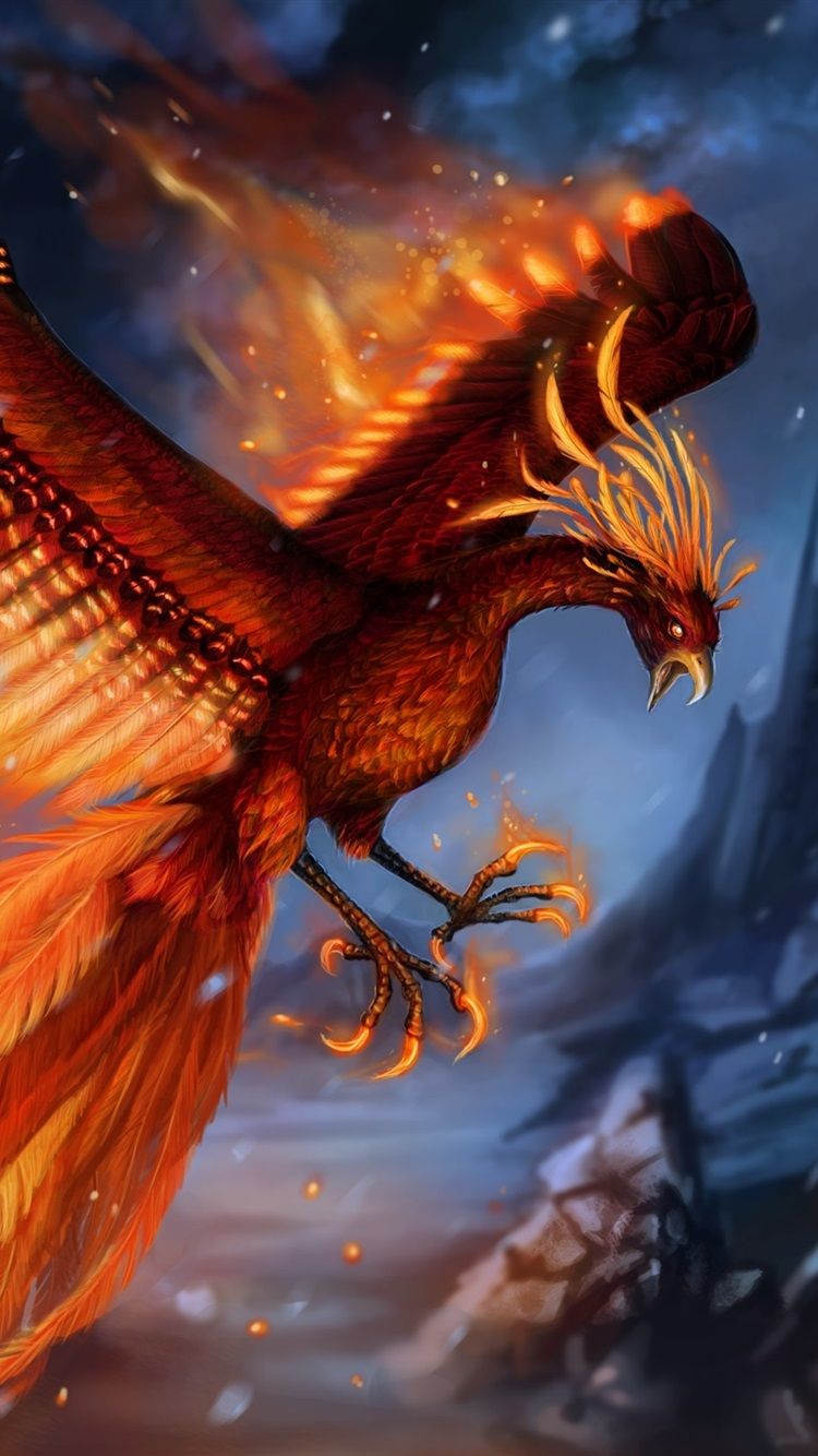 Beautiful Phoenix Wings Tail Art Picture 750x1334 Iphone