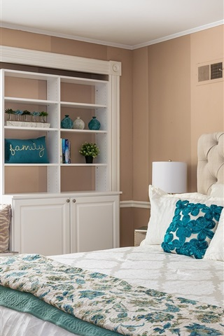iPhone Wallpaper Bedroom, bed, pillow, window