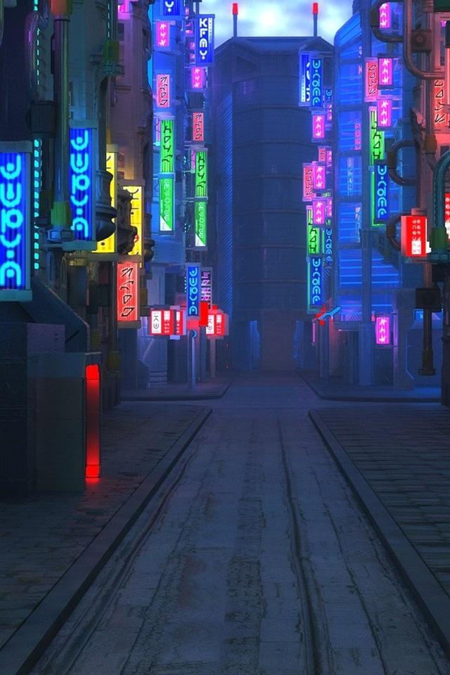 Blade Runner 2049 Ciudad Futura Calle Noche Luces