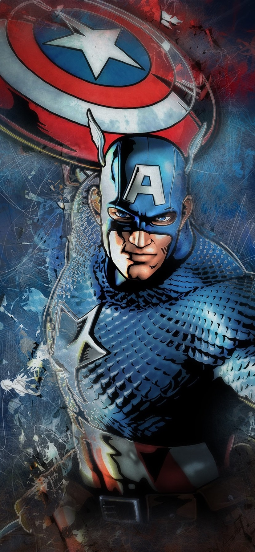 Wallpaper Captain America Shield Mask Marvel Comics Art Picture 3840x2160 Uhd 4k Picture Image