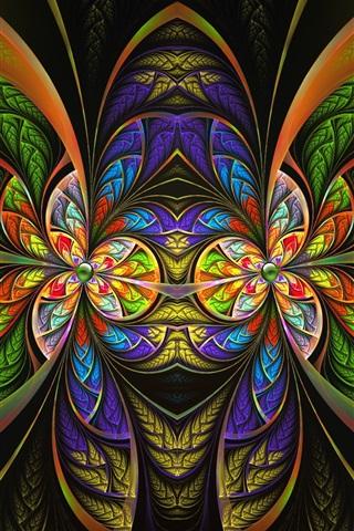 iPhone Papéis de Parede Padrões coloridos, arte de fantasia