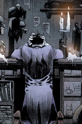 iPhoneの壁紙 DCコミック、バットマン、スーパーヒーロー