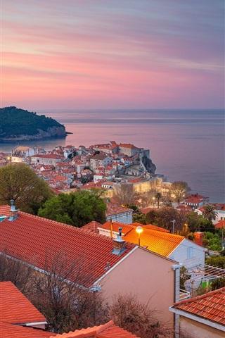 iPhone Wallpaper Dubrovnik, Croatia, Adriatic sea, city, island