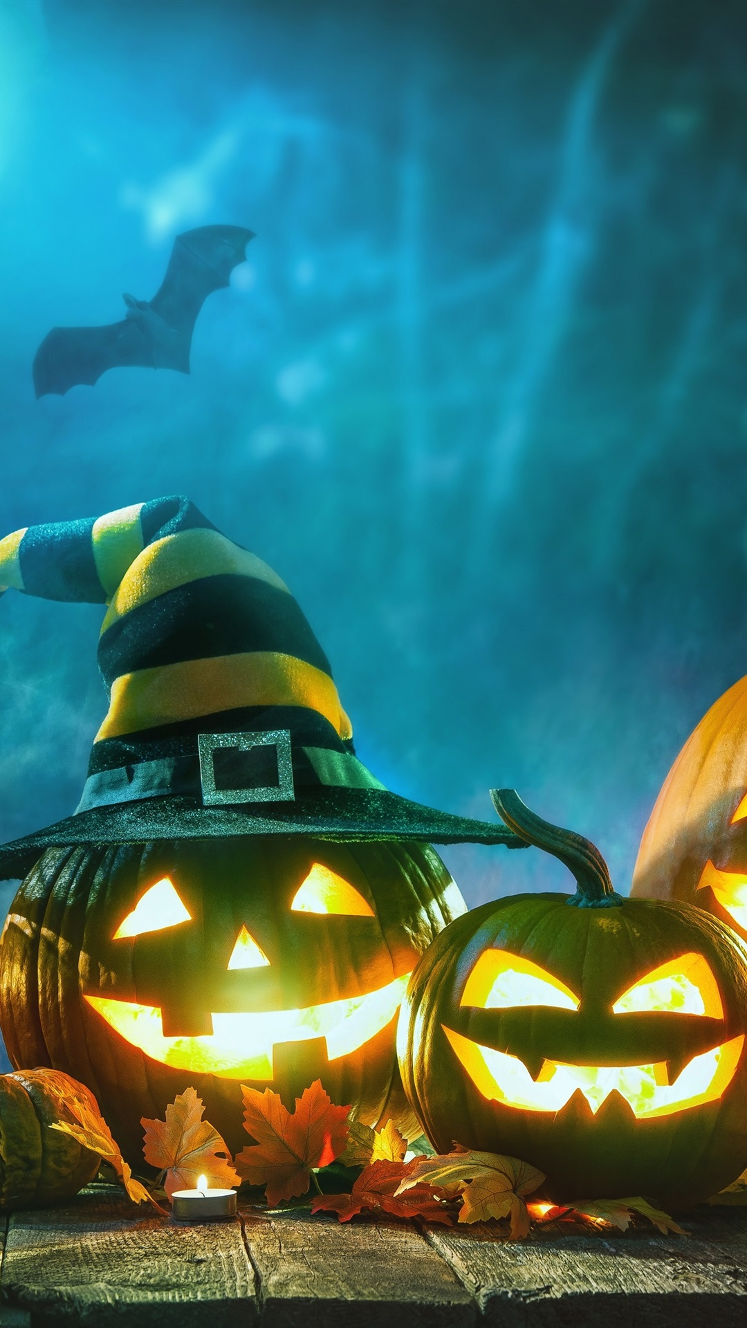 Halloween Pumpkin Lamp Night 1125x2436 Iphone 11 Pro Xs X