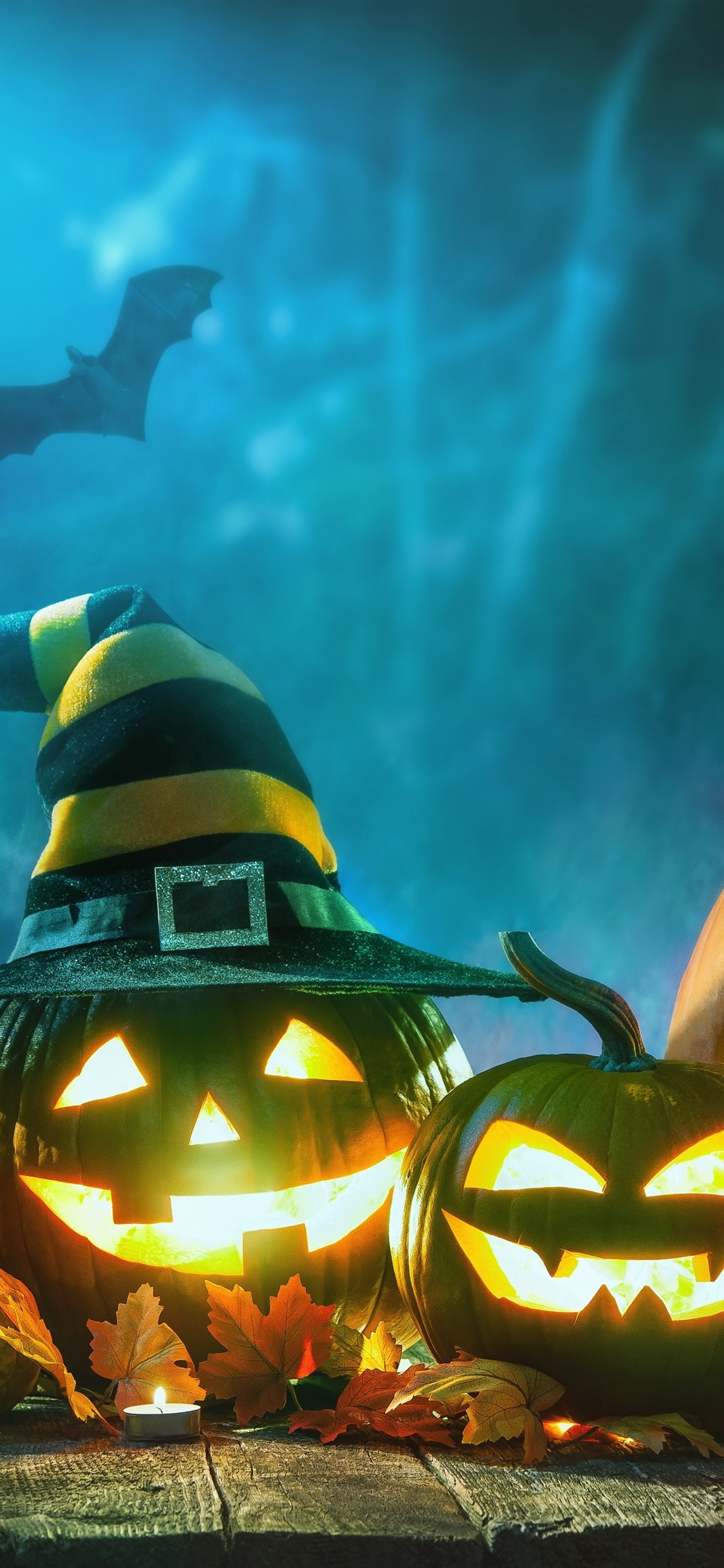Halloween Kurbislampe Nacht 1125x2436 Iphone Xs X