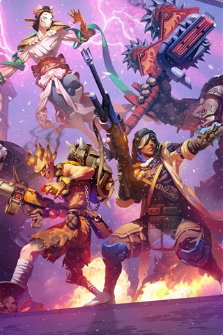 iPhone Wallpaper Heroes of the Storm, Overwatch, art picture