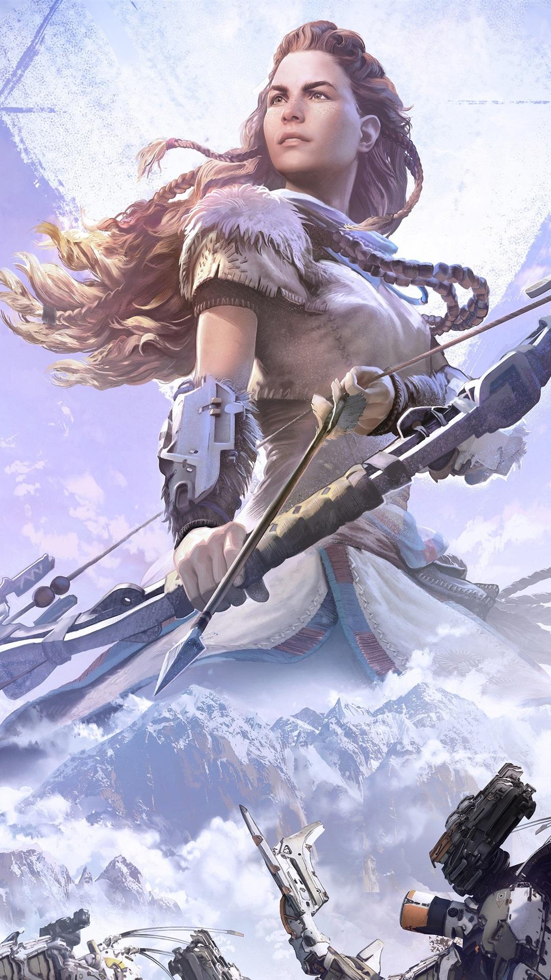 Horizon Zero Dawn Arquero Chica Juegos De Ps4 1080x1920