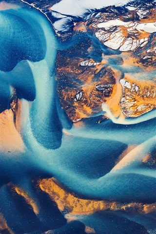 Iceland Top View Aerial Photography 640x1136 Iphone 55s