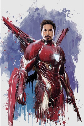 iPhone Wallpaper Iron Man, The Avengers: Infinity War, art picture