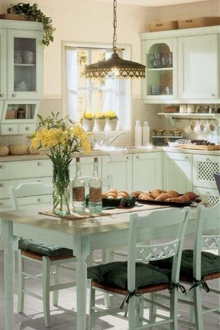 iPhone Wallpaper Kitchen, room, interior, vintage