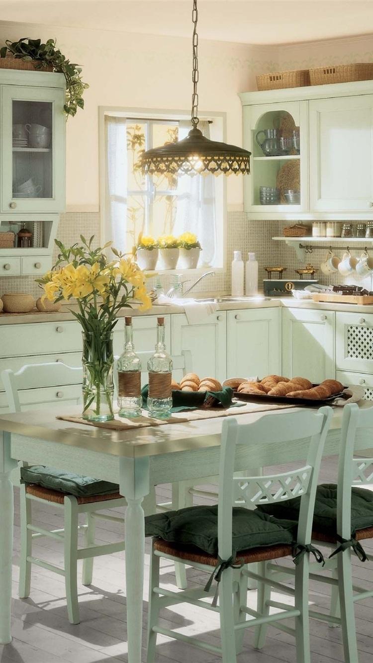 Kitchen Room Interior Vintage 750x1334 Iphone 8 7 6 6s