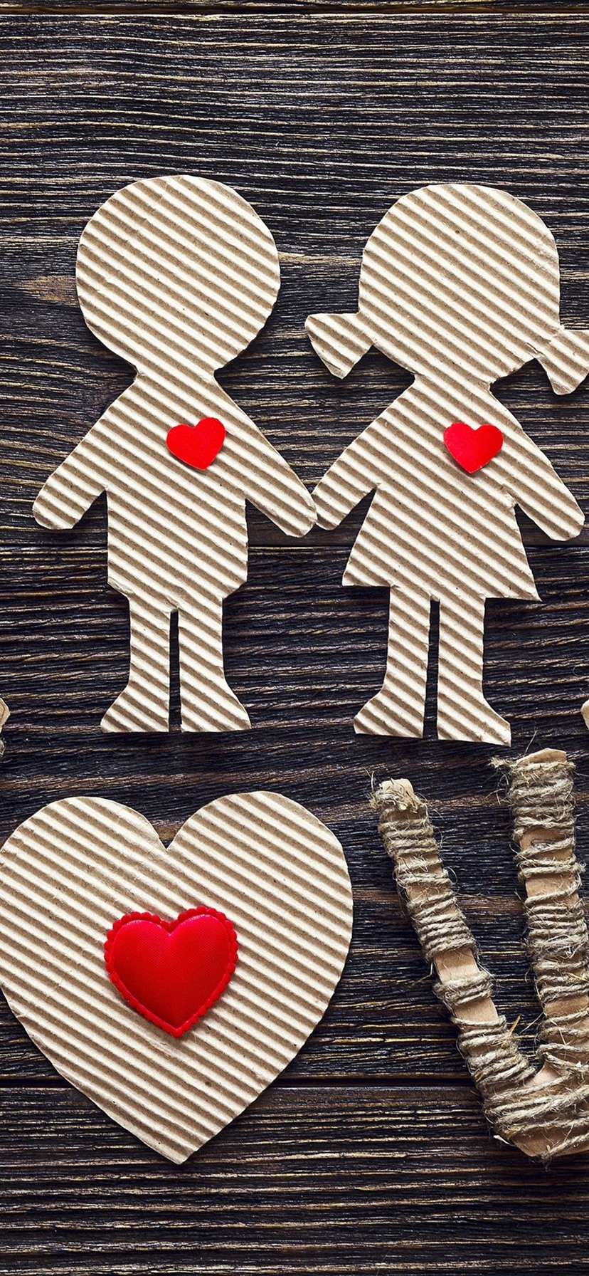 Wallpaper Love Girl And Boy Paper Art 3840x2160 Uhd 4k Picture