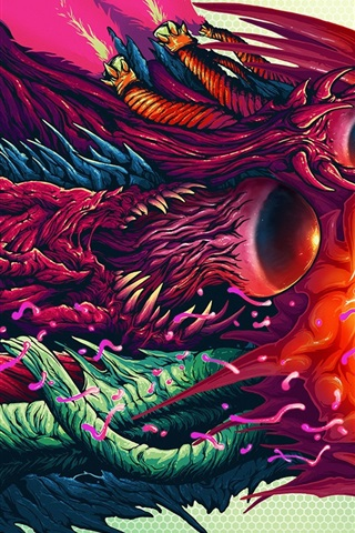 iPhone Wallpaper Monster, colorful, art painting