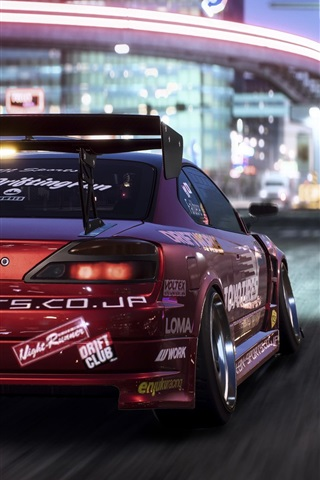 iPhone Wallpaper Need For Speed: Payback, Nissan race car rear view