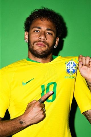 iPhone Wallpaper Neymar, Russia 2018, FIFA World Cup