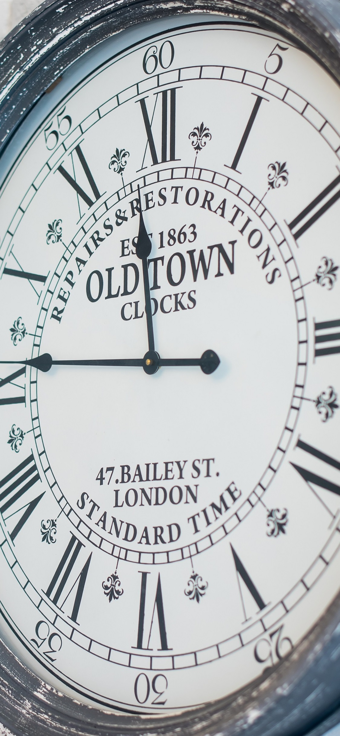 Old Town Clock Wall 1125x2436 Iphone Xs X Wallpaper