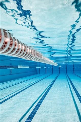 iPhone Wallpaper Olympic swimming pool, underwater