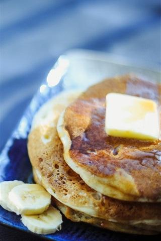 iPhone Wallpaper Pancake, coffee, breakfast