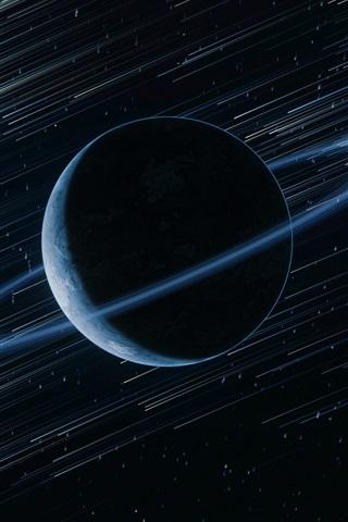 iPhone Papéis de Parede Planeta, anel, estrelas, espaço