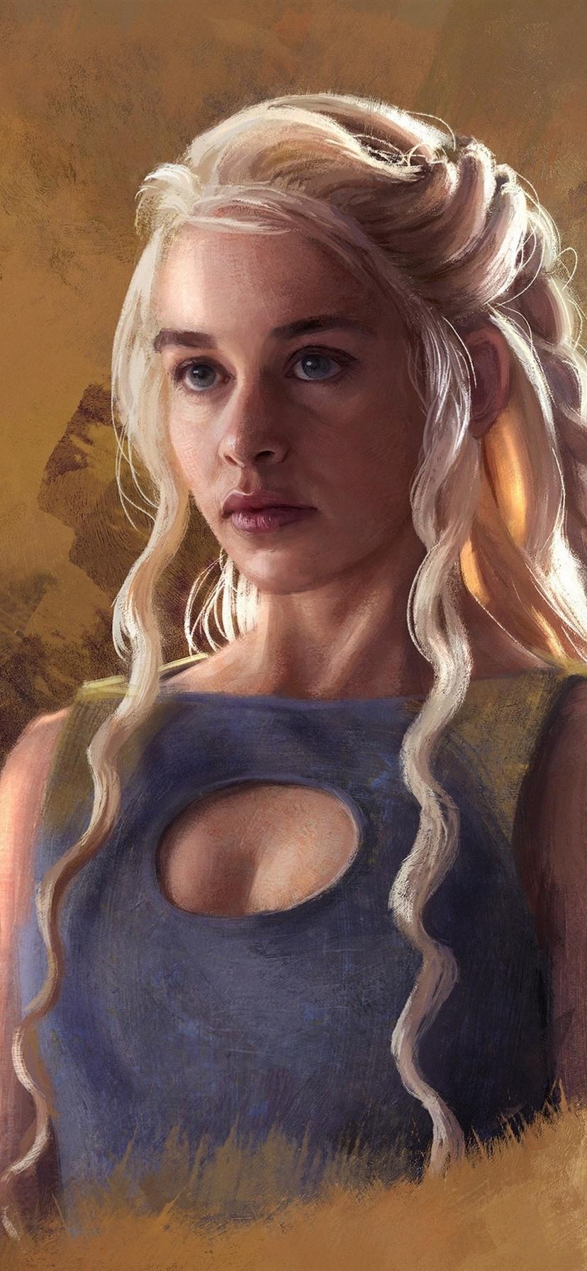 Wallpaper Queen Daenerys Game Of Thrones Art Picture 2880x1800