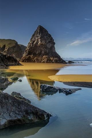 iPhone Wallpaper Rocks, sea, coast