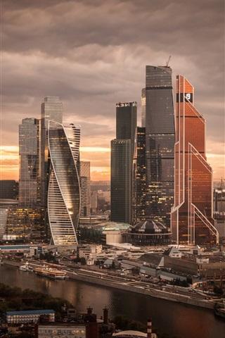 iPhone Wallpaper Russia, beautiful city, night