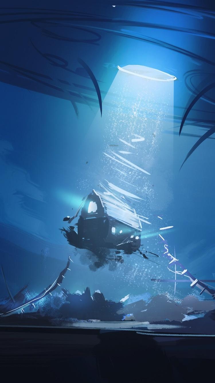 Wallpaper Sci Fi Painting Ufo Barn Flying Night Light 3840x2160 Uhd 4k Picture Image