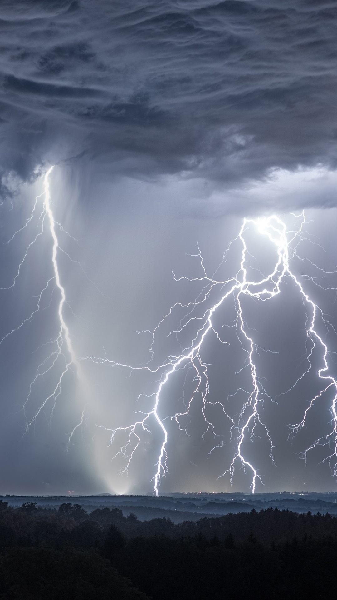 Wallpaper Storm Lightning Clouds Germany 3840x2160 Uhd