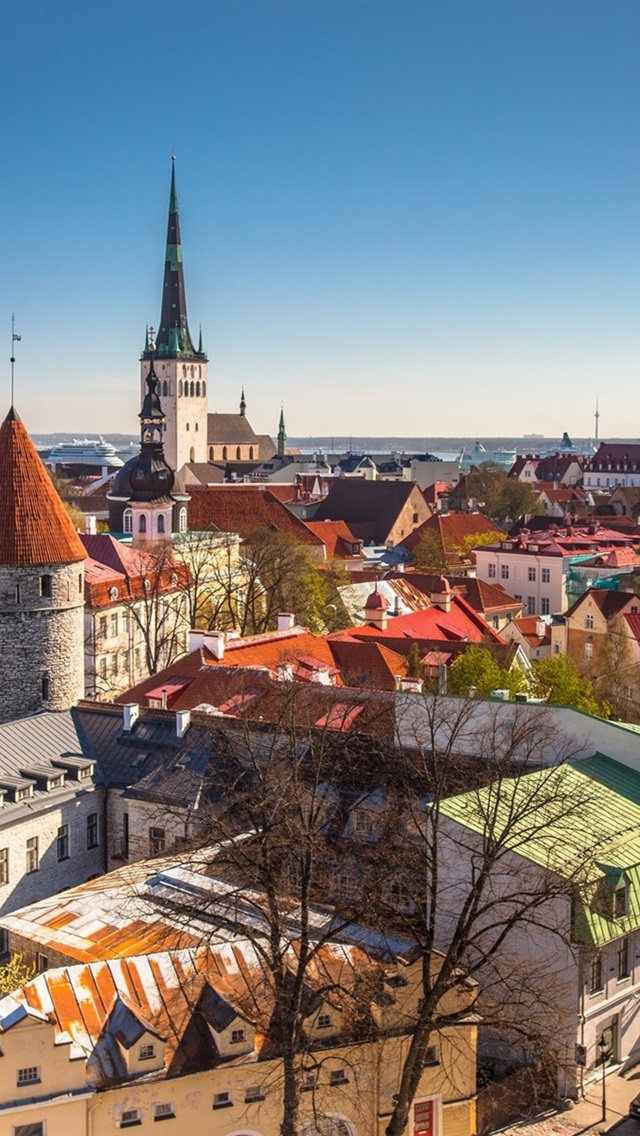 01676a315f3 Wallpaper Tallinn, Estonia, city, houses 1920x1200 HD Picture, Image