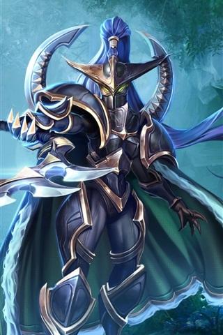 iPhone Wallpaper World of Warcraft, warrior, mask