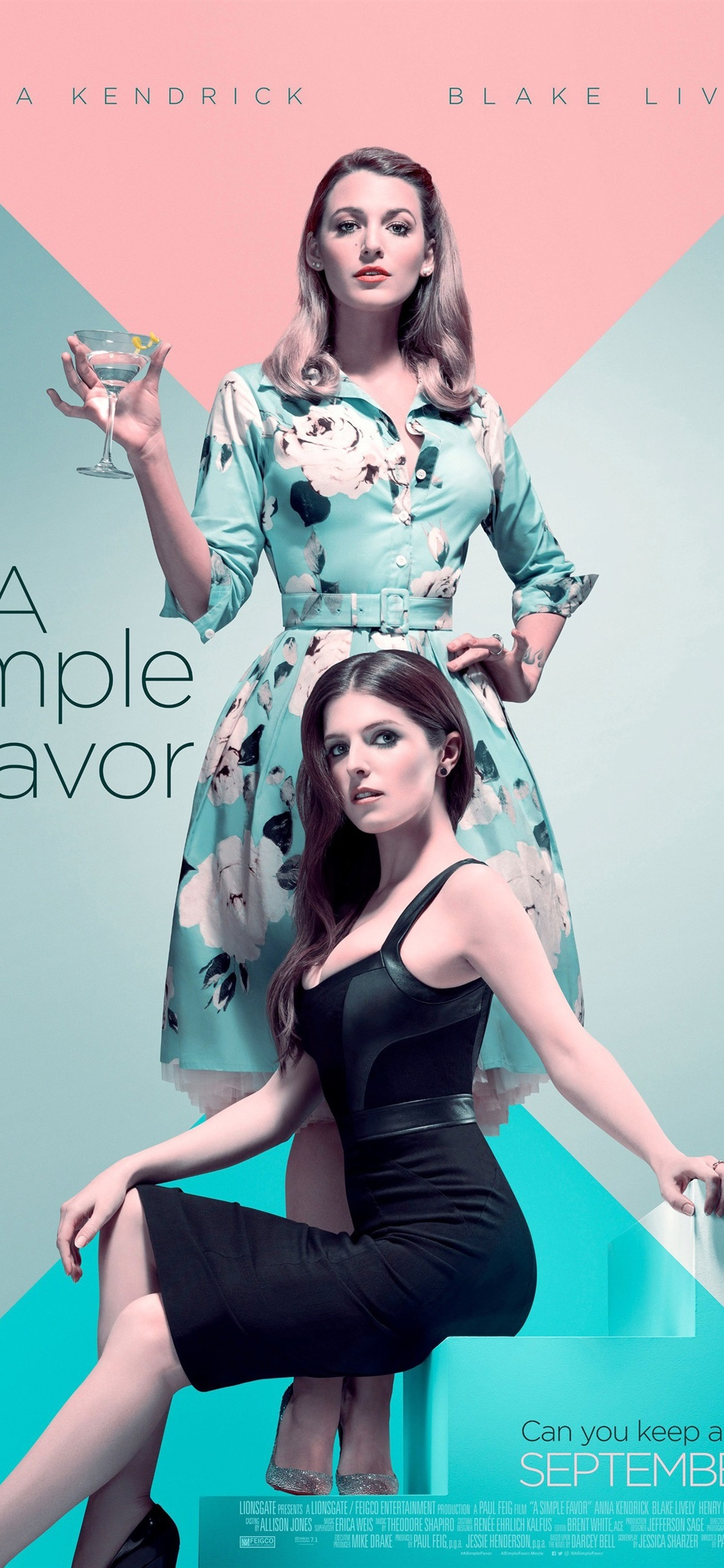 Anna Kendrick Blake Lively A Simple Favor 1125x2436 Iphone