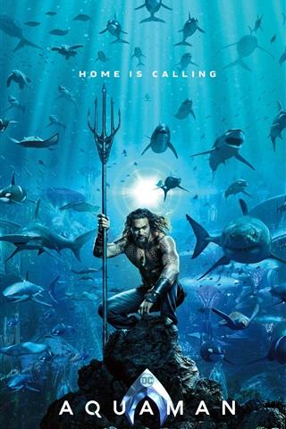 iPhone Wallpaper Aquaman, DC comics movie 2018